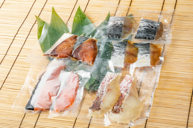 西京漬・ゆうあん漬(5種セット)【冷凍】 ※(西京漬:サーモン、サワラ、ブリ ゆうあん漬:サワラ、ブリ)